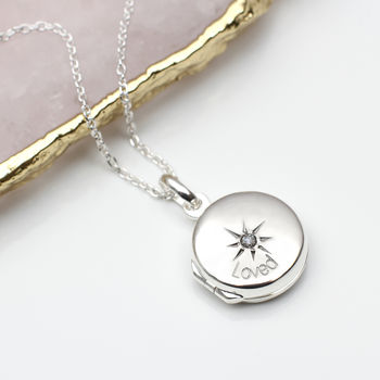 Personalised Sterling Silver Or Rose Gold Loved Locket