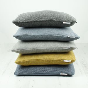 Recycled Wool Cushions - bedroom