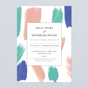 Paint Palette Wedding Invitations - what's new