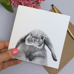 Peeping Baby Rabbit Card