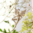 Large Silver Boy Fairy Necklace