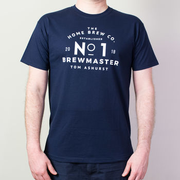 Personalised No. One Brewmaster T-Shirt