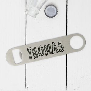 Personalised Bubble Name Bottle Opener - corkscrews & bottle openers