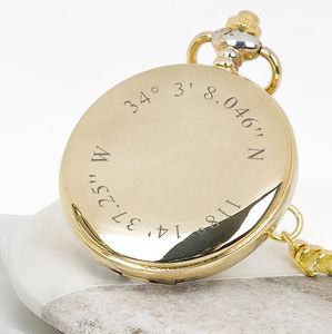 Personalised Coordinates Pocket Watch - watches