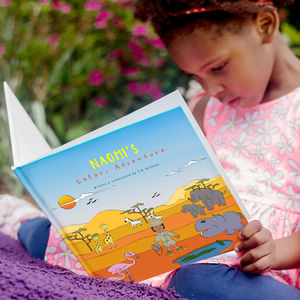 Personalised Safari Adventure Story Book - gifts for children