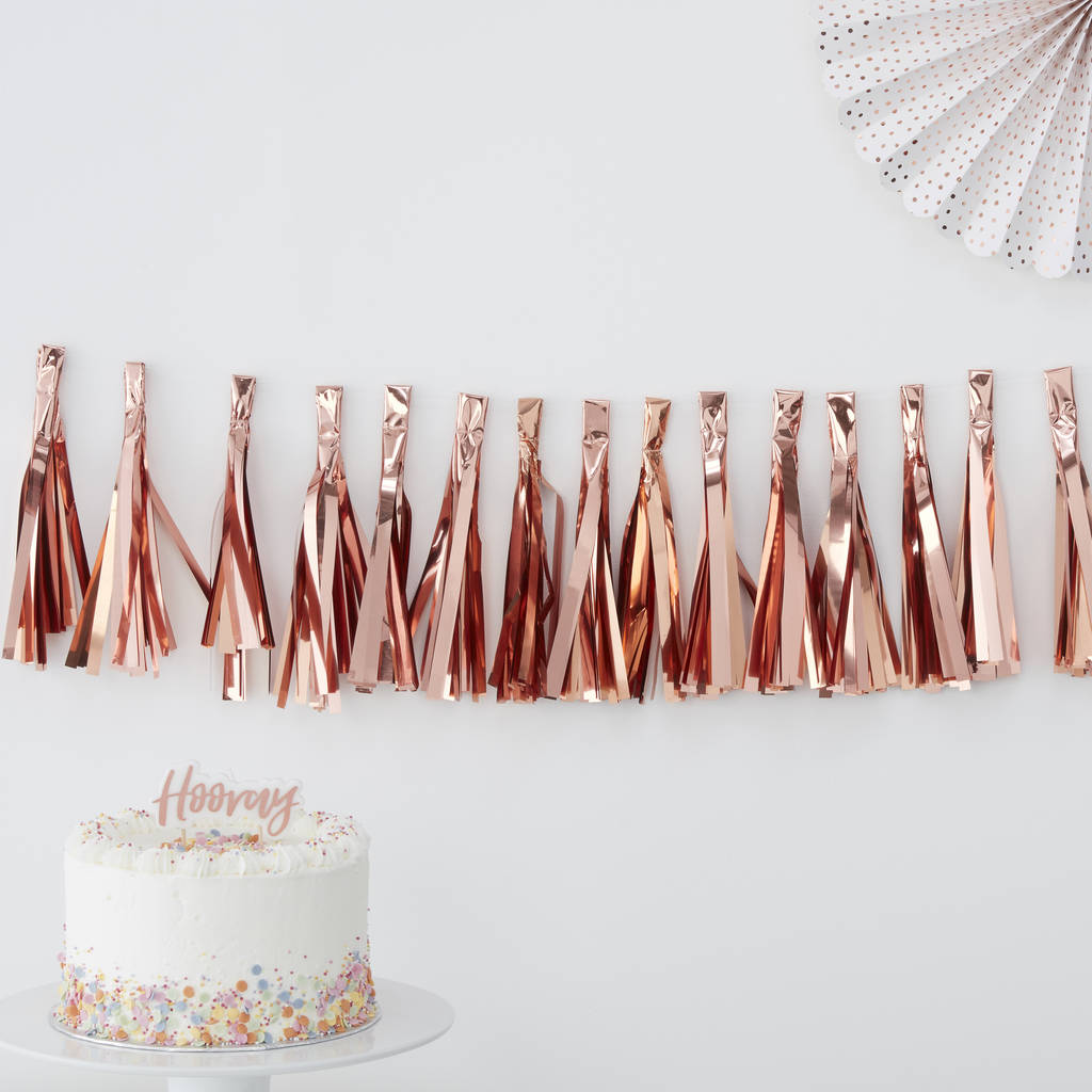 Rose Gold Tassel Garland Bunting Kit