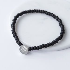 Mens Beaded Star Sign Bracelet