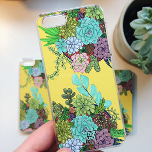 Succulent Print Case For iPhone