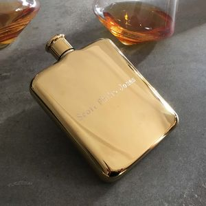 Personalised Gold Plated Hip Flask