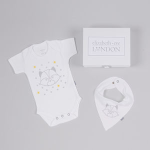Rudy Racoon Babygrow And Bib Gift Set