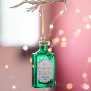 Christmas Gin Bauble Decoration