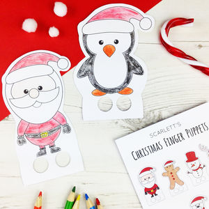 Make Your Own Christmas Finger Puppets