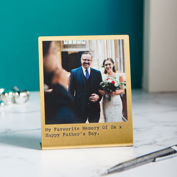 Personalised Solid Brass Photo Print