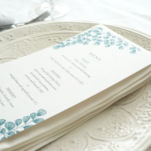 Fern Wedding Menu