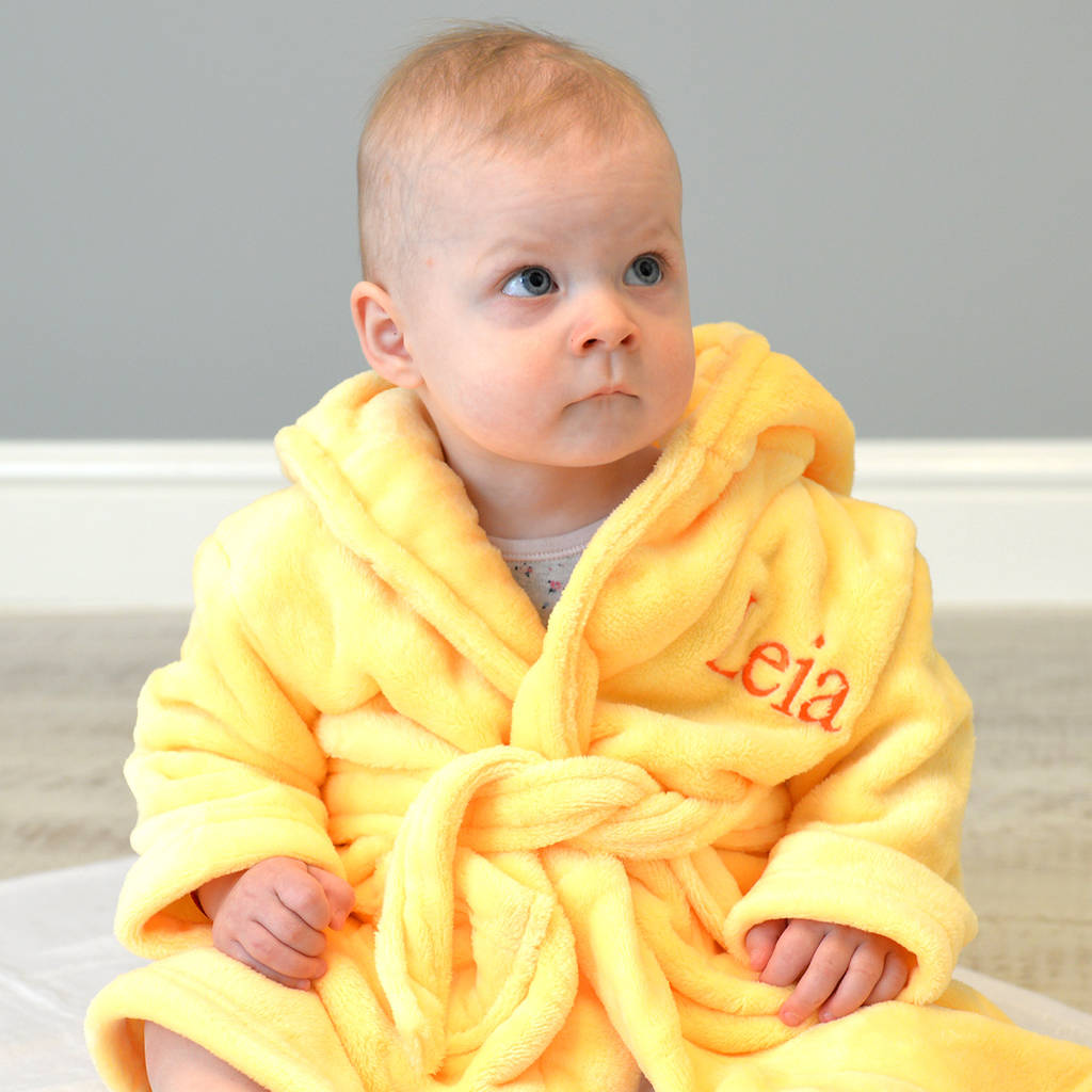 personalised twins dressing gown set 18 to 24 months by a type of ...
