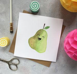 Happy Pear Greeting Card - all purpose cards
