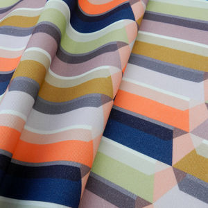 Block Valley Cotton Fabric - throws, blankets & fabric