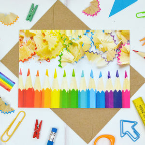 Rainbow Pencil Postcard - postcards