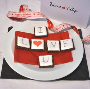I Love You Cookie Card - new in food & drink