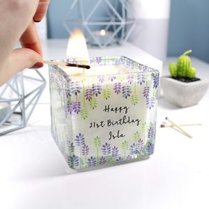 Birthday Scented Square Candle For Her
