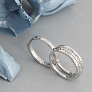 Personalised Secret Message Eternity Ring - engagement rings