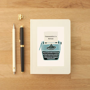 Personalised Typewriter Notebook - gifts for friends