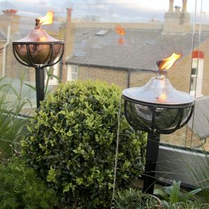 Hammered Oil Burning Garden Torch
