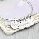 Personalised Loved Ones Sterling Silver Disc Bangle