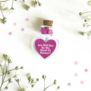 'Will You Be My Maid Of Honour' Personalised Token
