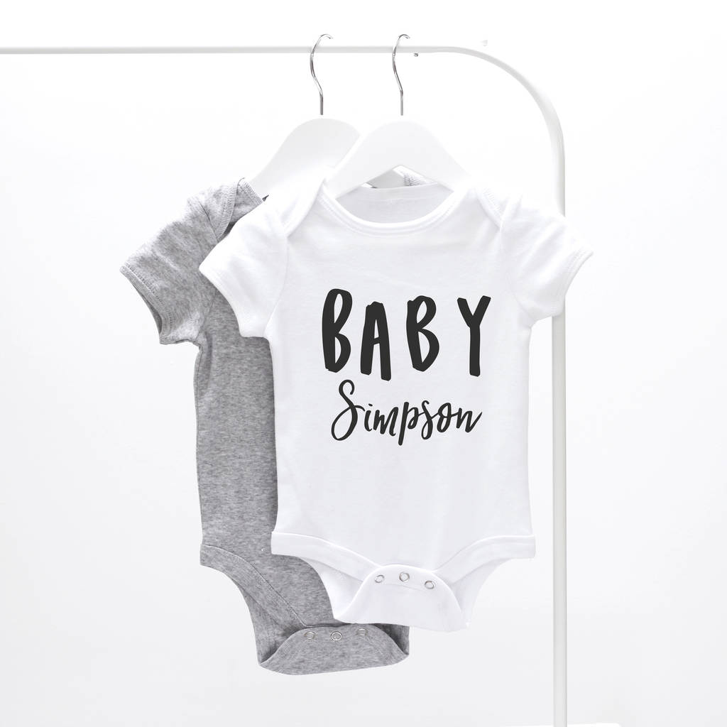 Clothing, Shoes & Accessories Personalised Baby Grow