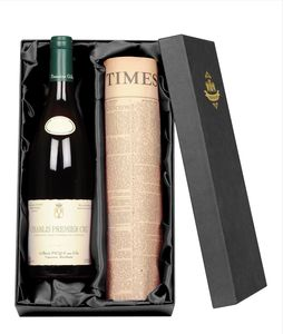 Chablis Premier Cru Wine With Newspaper Gift Set - wines, beers & spirits