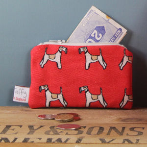 Fox Terrier Small Zipped Purse - purses