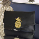 Pineapple Glitter Clutch Choose Your Colours