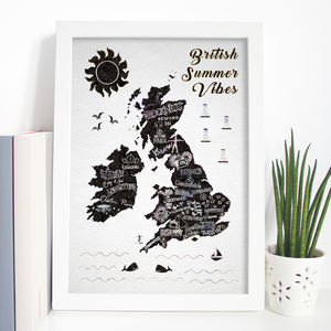 British Music Festivals Map Print