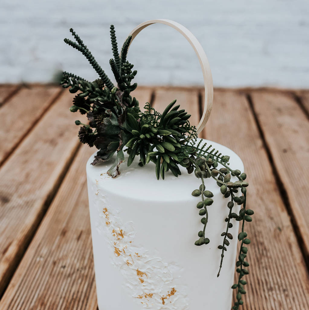 Trailing Succulent Wedding Cake Topper By Luna And Wild Notonthehighstreet Com