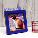 Personalised Cat Mini Photo Frame