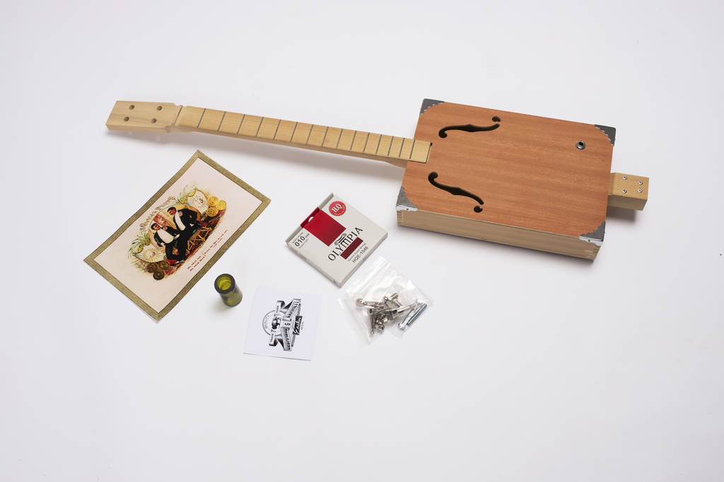build your own cigar box guitar kit by drummond hammett custom stringed instruments. Black Bedroom Furniture Sets. Home Design Ideas
