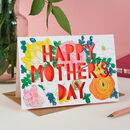 Happy Mother's Day Spring Floral Paper Cut Card