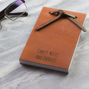 Personalised Handmade Leather Notepad