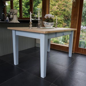 Hand Painted Farmhouse Shaker Table In Any Colour