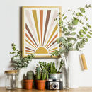 Retro Rainbow Sunburst Print