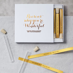Personalised Reasons Why You're Wonderful - personalised gifts