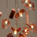 Copper Cookie Cutter String Lights
