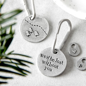 'Lost Without You' Keyring - gifts for her
