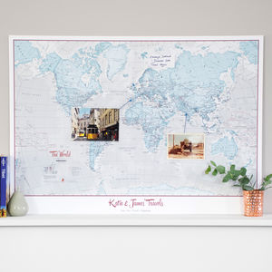 Personalised World Is Art Map - frequent traveller