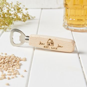 Personalised New Home Couples Bottle Opener