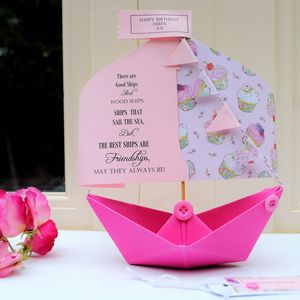 Friend Paper Boat Card Keepsake