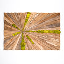 Grande Wooden Moss Art Rectangle