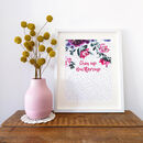 Personalised Dotty Floral Print