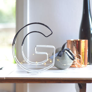 Monochrome Dipped Wire Letter - decorative letters
